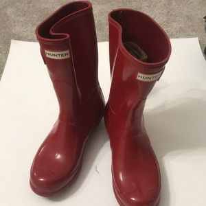 Hunter boot red size 7 in Excellent shape
